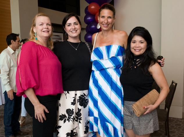 Dawn Spalding, Kathryn Henry, Diana Hamilton, Nancy Gopez, Partners Card Kickoff