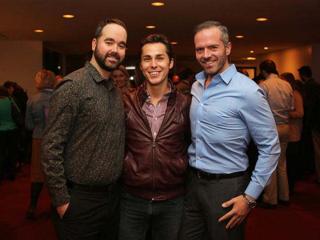 Clint Langford, from left, Brandon Weinbrenner and Paul Pettie at the Alley Young Professionals holiday party December 2013
