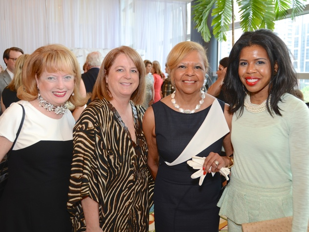 24 Karen Wildenstein, Shelley Taylor Ludwic, Yvonne Cormier, Claire Cormier Thielke at the Best Dressed luncheon March 2015