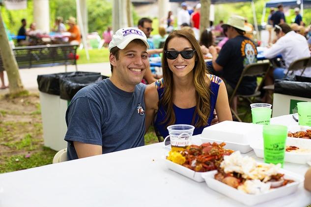 18 Zach Huey and Amy Rebechini at the Buffalo Bayou Bash April 2014