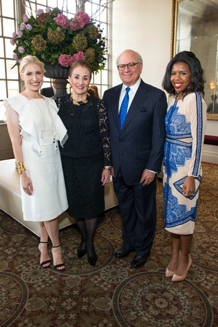 Isabel David, from left, Martha Turner, Glen Bauguss and Claire Cormier Thielke at the Legacy Luncheon September 2014