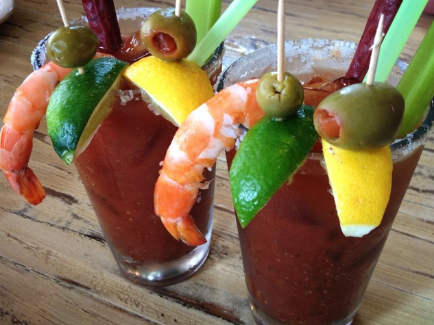 Bloody Mary from Seafood and Spaghetti Works Port Aransas