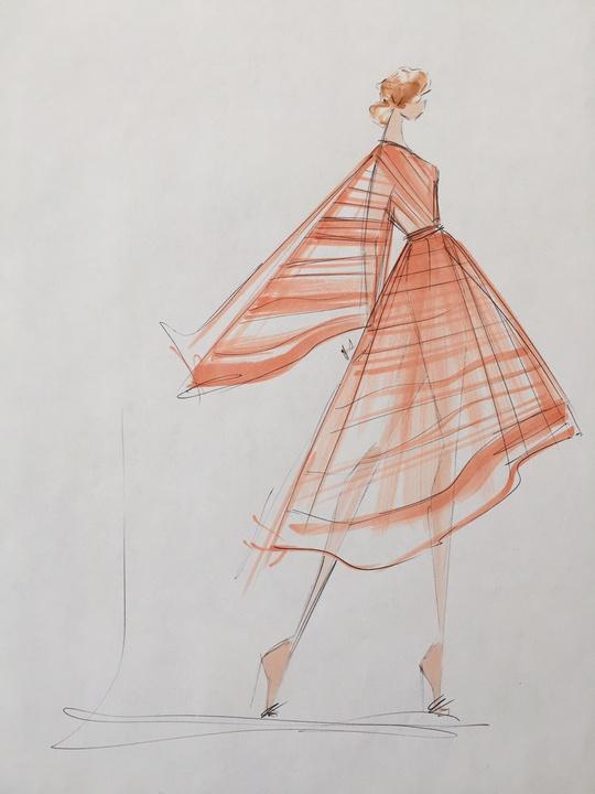 Christian Siriano inspiration sketch New York Fashion Week spring 2016