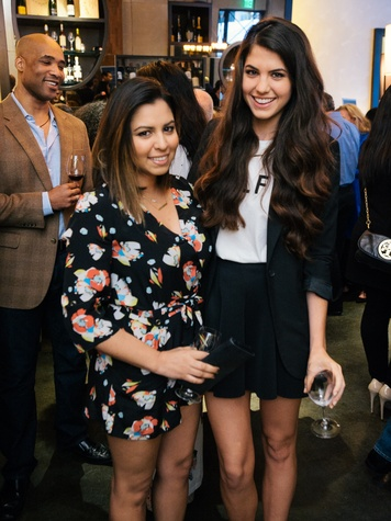 1 Mishelle Echeverria, left, and Jordan Newman at the Artesa wine tasting at Cru March 2014