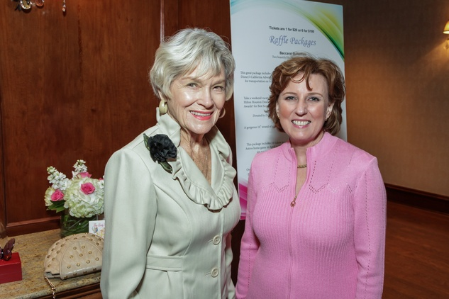 Maurine Alfrey, left, and Debbie Bauer at the Houston Hospice butterfly luncheon April 2015jpg