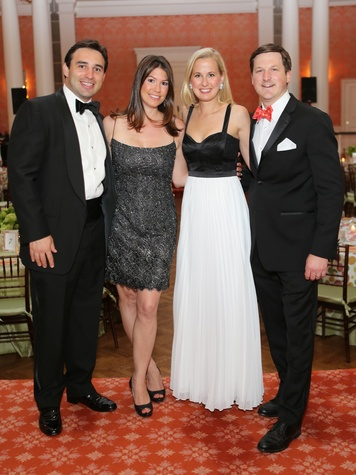 Jason and Kristin Kaminsky, from left, and Meg and Preston Kamin at the CancerForward Gala May 2014