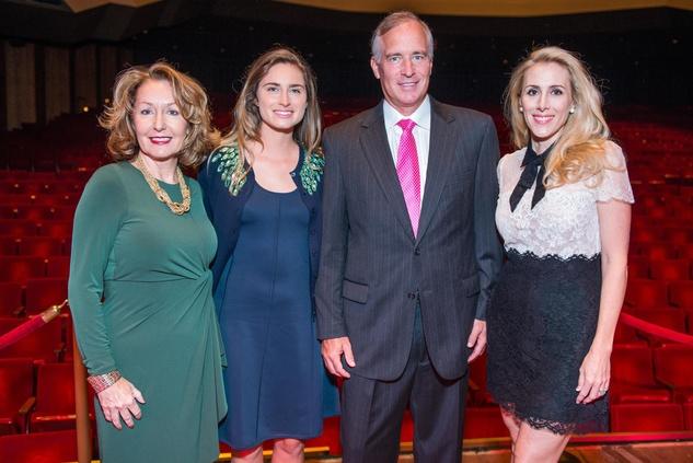 June Christensen, from left, Lauren Bush Lauren and Mark and Christie Sullivan at the SPA luncheon with Lauren Bush Lauren October 2014