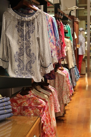 News_Robert Graham Store_Hanging Women's Shirts_May 2012