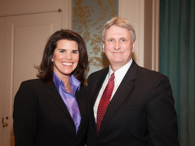 Lisa Malosky and Michael Anderson at the Interfaith Ministries luncheon January 2014