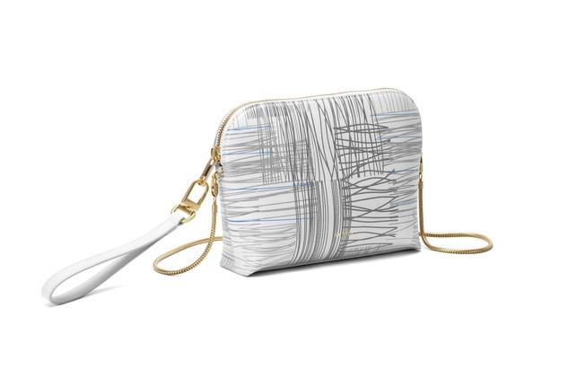 Sarah White Gray Bag