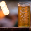 Austin Eastciders Gold Top Glass