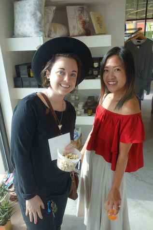 Carra Sykes and Issa Chou at Garmentory party at Saint Cloud