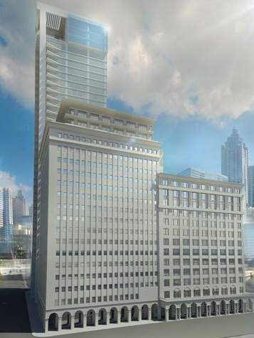 Texaco building downtown Houston high-rise rendering August 2013 3