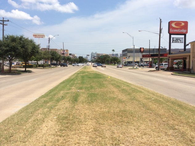 View of South Main street to Texas Medical Center