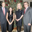 Larry Stuart, Venise Stuart and hosts Myrna and Bob Schlegel, DSOL Deb Holiday Festivities