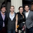 63 Stuart Rosenberg, from left, Kyle Dutton, Allison Bagley and Fidel Garza at the Night Circus party January 2014