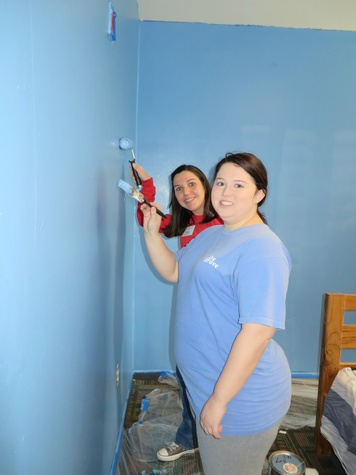 Nicole Muchnikoff, Callie Rutherford, JLD Provisional Day at Promise House