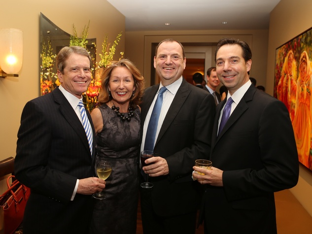 3 Dean Gladden, from left, June Christensen, Perryn Leech and Jim Nelson at Perryn Leech's 50th birthday party April 2014
