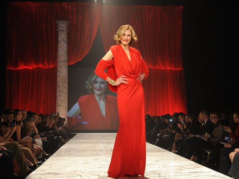 3, The Heart Truth 2013 Fashion Show, Brenda Strong wearing Marc Bouwer
