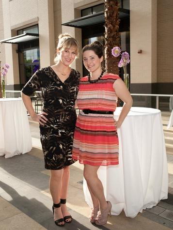 Sarah Pallohusky and Lacey Long, partners card kickoff
