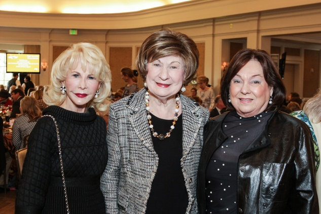 Diane Lokey Farb, from left, Cora Sue Mach and Rose Cullen at the MS Society luncheon March 2015