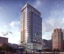 Hotel Alessandra rendering for GreenStreet January 2015