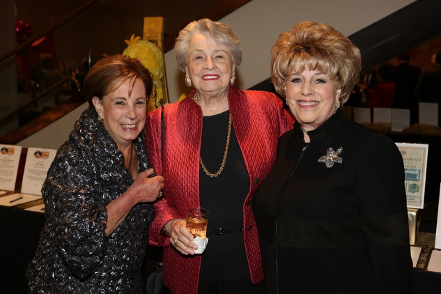 Seven Acres gala, Feb. 2016, Sue Cororve, Millie Cowen Tatar, Lorraine Horwitz