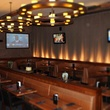 interior of Cover 3 sports bar with giant tvs