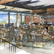 Rendering of taproom at Alamo Drafthouse downtown