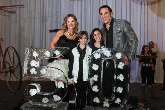 297 Lucinda Loya, from left, NAME, NAME and Javier Loya at Lucinda Loya's birthday celebration February 2014