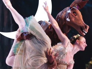 Ballet Austin presents A Midsummer night's dream dancer with Bottom