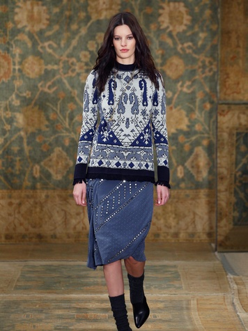 Clifford Fashion Week New York fall 2015 Tory Burch March 2015 Look 02
