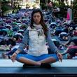 Santana Row yoga day San Jose California