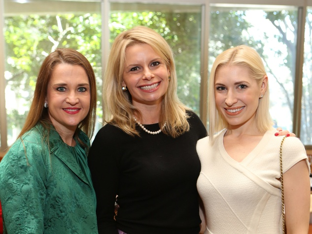 109 Mary D'Andrea, from left, Valerie Dieterich and Isabel David at the Houston Grand Opera Ball luncheon February 2014
