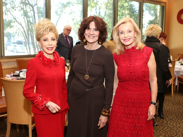 133 Margaret Alkek Williams, from left, Donna Vallone and Pat Breen at the Houston Grand Opera Ball luncheon February 2014