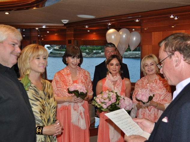 57 Shelby Renewing Vows in France June 2013 John Eddie Williams, Sheridan Williams, Shelby Hodge, Janet Gurwitch, NAME