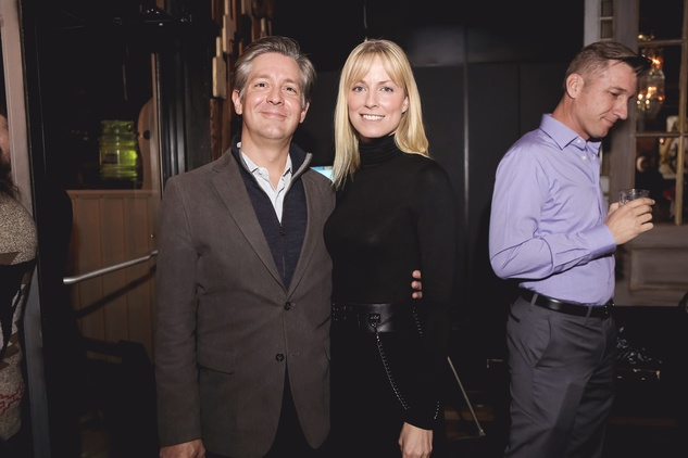 Holden Rushing and Brooke Pate at the Page Parkes & Ruggles Black Holiday Soiree December 2014