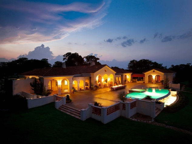 The Inn at Dos Brisas, night, swimming pool