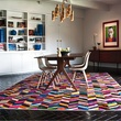 Home interior with Kyle Bunting cowhide rug