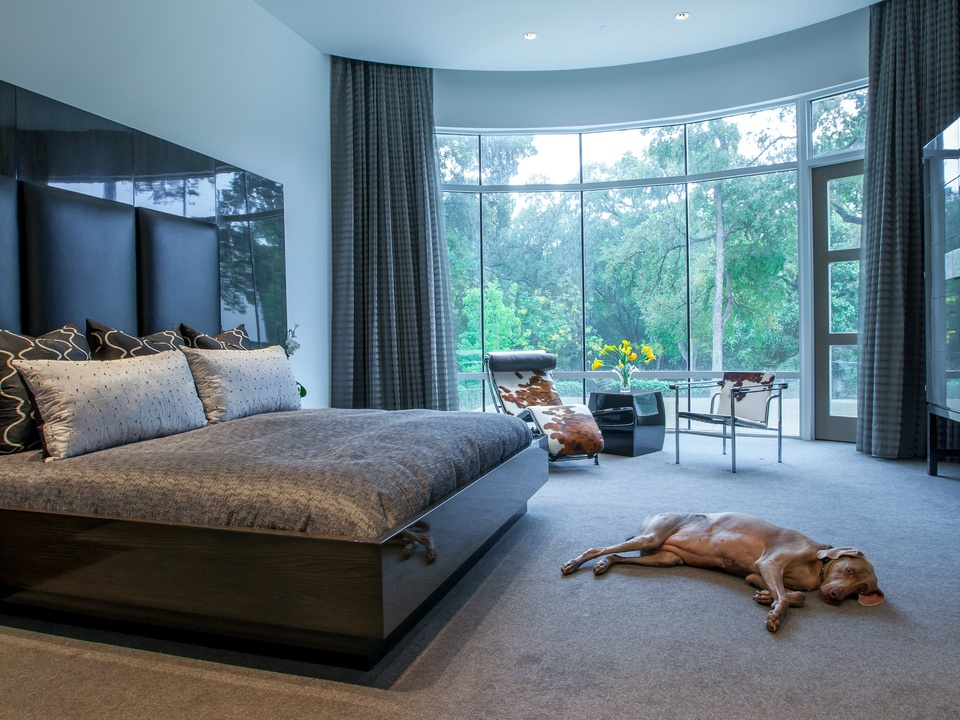Master bedroom designed by Key Residential in Dallas