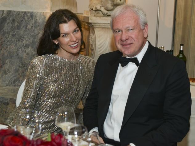 Milla Jovovitch and John Thrash at Louvre party