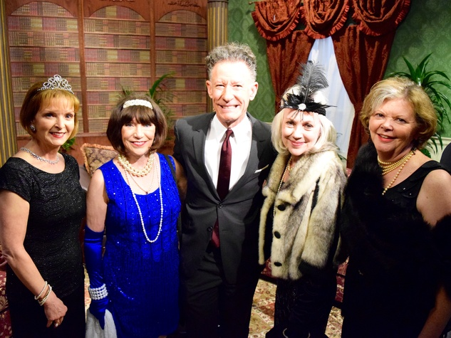 Lynda Steinway, Marilyn Ingham, Lyle Lovett, Suzanne Webb, Boone Bullington at Manor of Speaking Downton Abbey taping