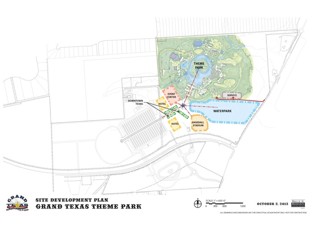 Grand Texas site development plan