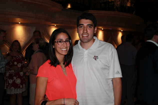 Cathy Garza and Juan Ibarra at the Friends of St. Jude Spring Happy Hour March 2015