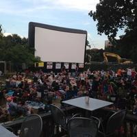 101X Summer Cinema_outdoor movie screen_Central Market Lamar_Austin_2014