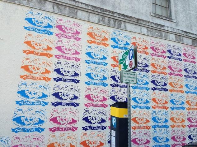 Mural Dia de los muertos mexic arte museum