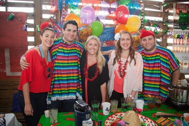 Rachel Brown, from left, Mike Delaney, Jordan Balcom, Laura Gaides and  Devin Magnussen at the Casa de Esperanza's Young Professionals 5th Annual Chili Cook Off February 2015