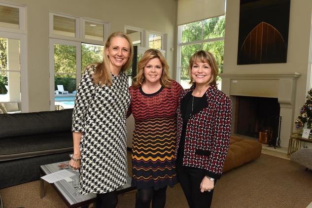 News, Children's Assessment Center tea, Dec. 2015, Elaine Stolte, Kelli Weinzierl and Kelley Lubanko
