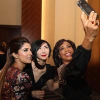 Sneha Merchant, Carrie Brandsberg-Dahl, Gina Gaston at Best Dressed Luncheon 2017
