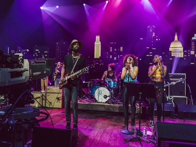 Gary Clark Jr camera set Austin City Limits taping ACL TV episode 2015